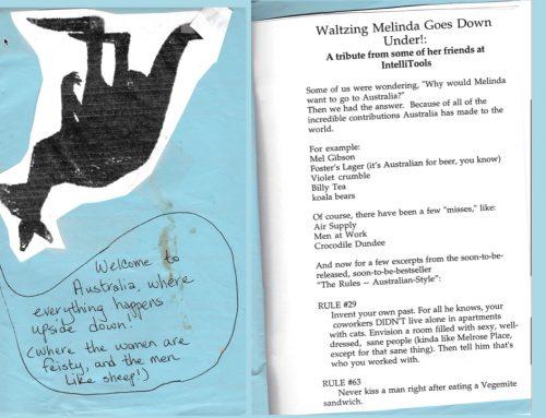 Waltzing Melinda Goes Down Under